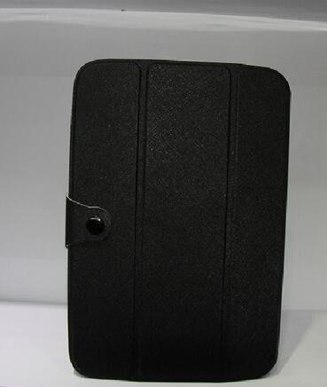 Galaxy note10.1 N8000電壓三折十字紋保護皮套 456