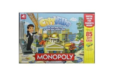 HASBRO 大富翁 A2052 MONOPOLY FAST-DEALING TRADING GAME CITYVILLE 79495 (EPC-437-84)