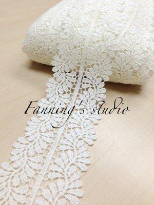 【芬妮卡Fanning服飾材料工坊】雙邊含羞草刺繡蕾絲 高6cm 1碼入