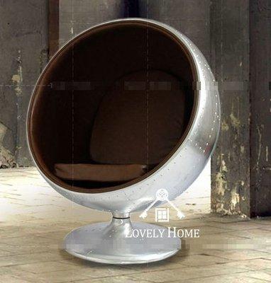 (台中 可愛小舖)歐式簡約素色風格-簡約金屬太空椅單人造型皮革椅半圓形主人椅鋁皮椅休閒椅閱讀椅電視椅套房民宿飯店