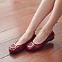104 丹妮鞋屋  芭蕾舞鞋 微鬆緊蘋果飾品小牛皮娃娃鞋 台灣製造手工鞋 丹妮鞋屋