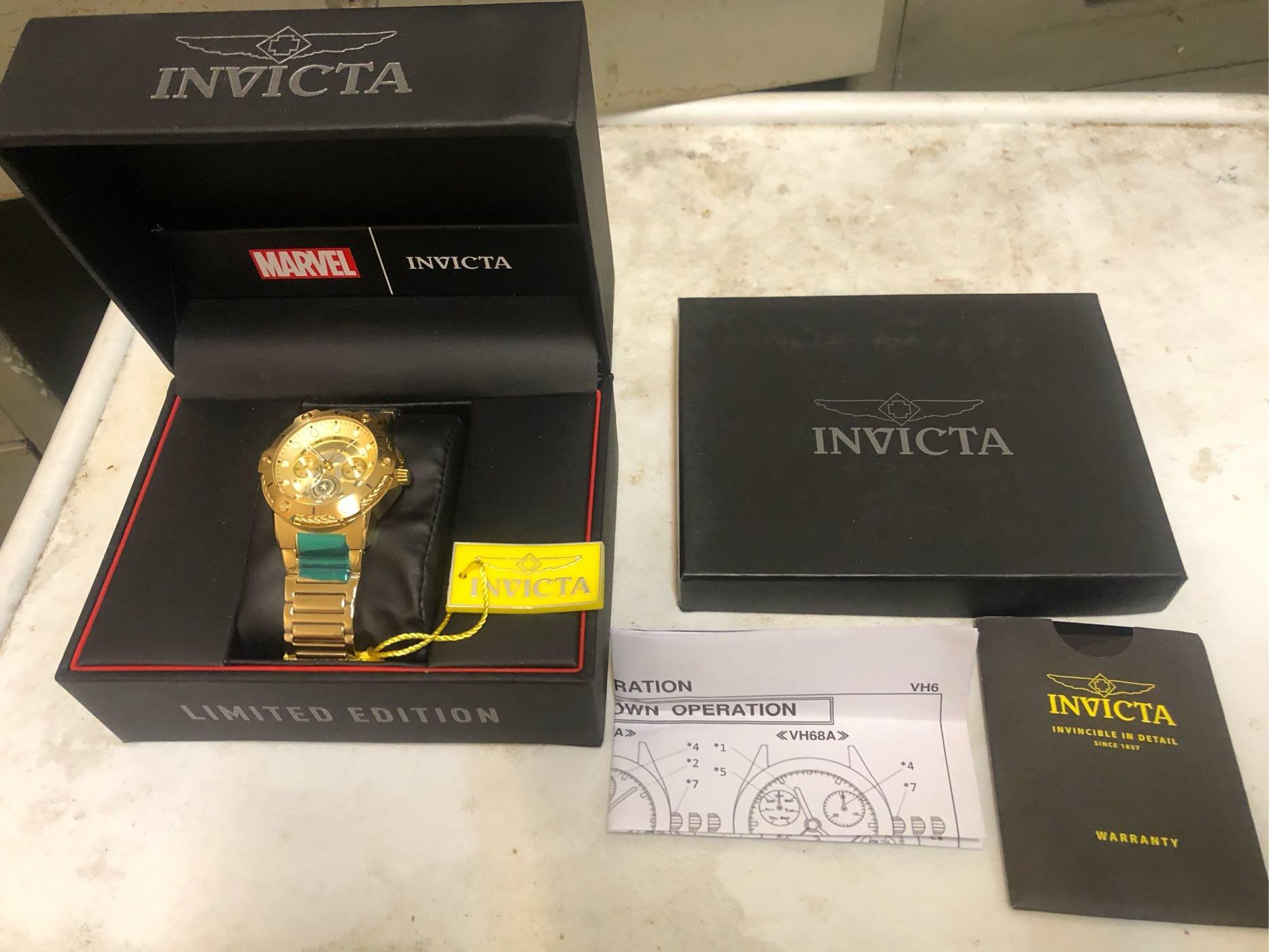 英威塔限量4000支金色鋼索手錶(買就送晨曦可樂水鬼錶)