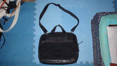 ~保證真品 PORTER 黑色PVC和尼龍布料款公事包 大方包 側背包1~便宜起標無底價標多少賣多少