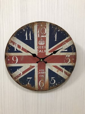 全新 UK  復古風/加州風 英國 United Kingdom 時鐘 限量 現貨