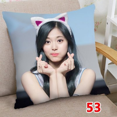 周子瑜 抱枕 TWICE 抱枕  雙面印刷 雙面圖可不同 60*60公分桃皮絨 專用