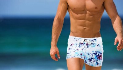 APPLE JUICY【ZX-67】MAN AWARE 舒適寬鬆運動型沙灘褲 XL 號 買五再送一