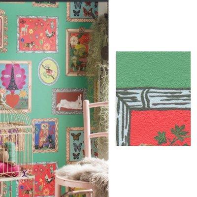 【夏法羅 窗藝】日本進口 復古相框圖案 鄉村風 時尚前衛 壁紙 BB_161358