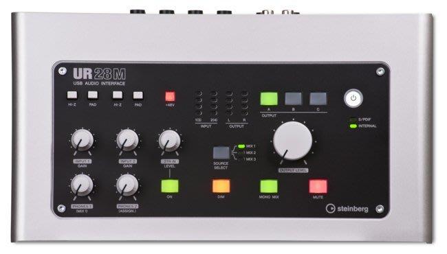 高傳真音響【 UR28M 】電腦錄音介面 96K高品質 移動錄音棚 專業音樂製作平台│YAMAHA