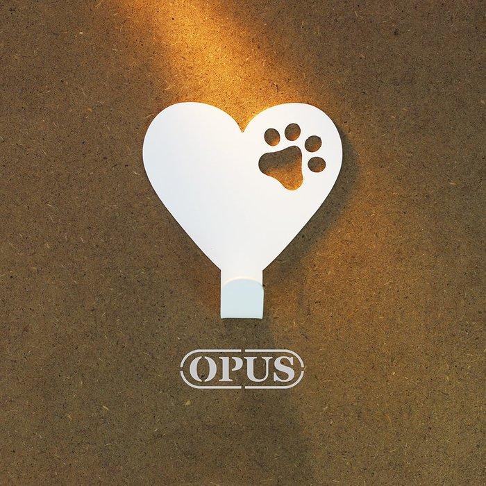 當貓咪遇上符號heart《優雅白》壁飾掛勾 造型無痕掛鉤 牆面壁掛【OPUS東齊金工】HO-nb12-heart(W)
