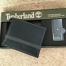 🎁薄身銀包禮盒🎁Timberland Men's Slimfold Wallet Black黑色真皮銀包連匙扣 with key fob box set