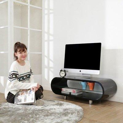 臥室/電腦室【澄境】I-B-TV011 鏡面曲線造型鋼琴烤漆電視櫃-寬95公分/視聽櫃 置物櫃 收納櫃