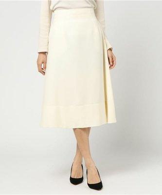 日本貴婦專櫃martinique 白色毛料半身圓裙 Snidel Jill Stuart