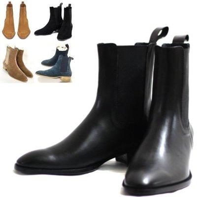 《 J.ST 》Chic x Trend 韓風時尚英倫切爾西套穿懶人中高筒真皮牛皮男靴工作靴馬丁靴軍靴皮鞋【P5419】