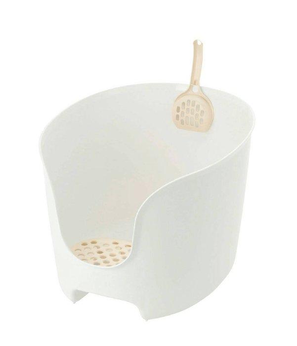 【李小貓之家】日本Richell《圍牆貓廁所貓砂盆-3種顏色》