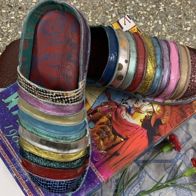 Macanna 麥坎納專櫃 法國麵包~馬卡龍配色彩虹鞋 EUR39. US9. 26cm