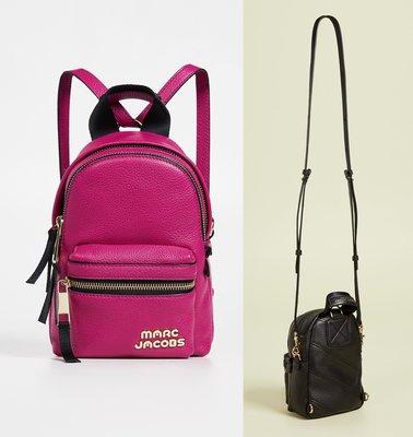 ◎美國代買◎Marc Jacobs Micro Backpack logo裝飾可斜肩背皮製皮革款後背包