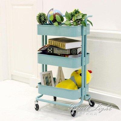 置物架可行動帶輪廚房儲物架小推車客廳收納架子拉斯克手推車 NMS