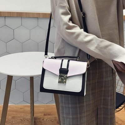 售完即止-包包女2018新款韓版潮大氣手提包女包時尚簡約百搭側背包斜挎包9-19(庫存清出S)