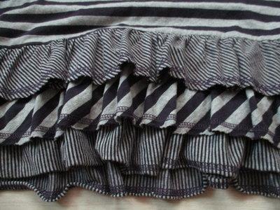 STOCKTON 詩德登  棉100%   彈性 拼接  條紋款 七分袖 連帽 上衣 洋裝