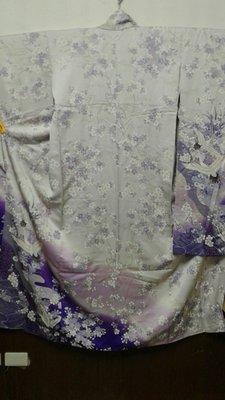 [兔尾屋和服專賣]振䄂  淡紫色系梅花圖案