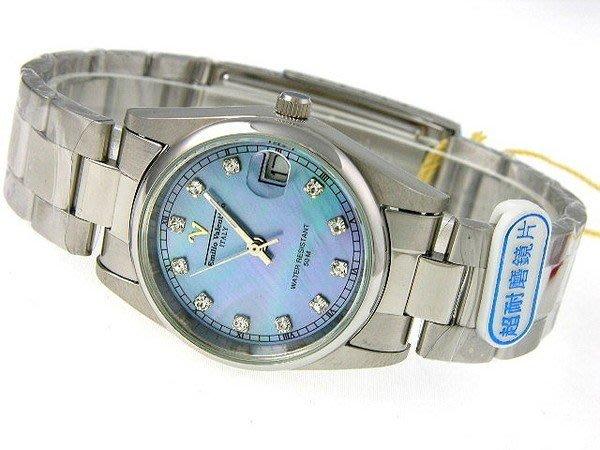 (六四三鐘錶精品店)Emilio Valentino (真品)斯文鑽錶.小型錶殼.藍寶石水晶玻璃.全不銹鋼.桶型