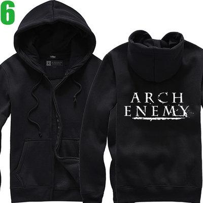 Arch Enemy【罪惡之神】連帽厚絨長袖死亡金屬搖滾樂團外套(共5種顏色可供選購) 新款上市購買多件多優惠【賣場二】