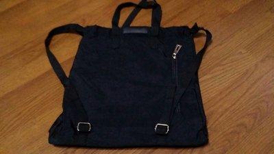 黑色M.S.SHISNG41X3IX5CM可手提可後背包二(房袋)