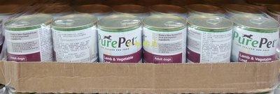 【小如的店】COSTCO好市多線上代購~紐西蘭 Purepet 狗罐頭飼料-羊肉+蔬菜口味(375g*24罐)