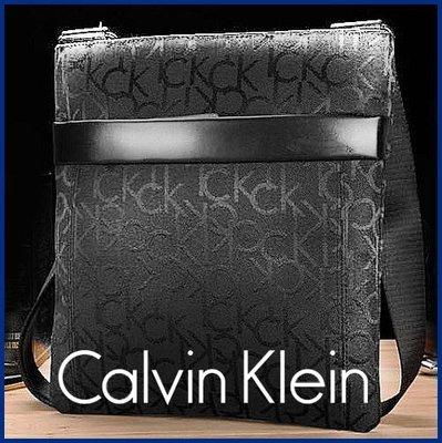 生日禮物 CK正品背包 肩背包 Calvin Klein休閒背包 逛街包 收款包 側背包  黑色經典款 下標贈CK男襪組