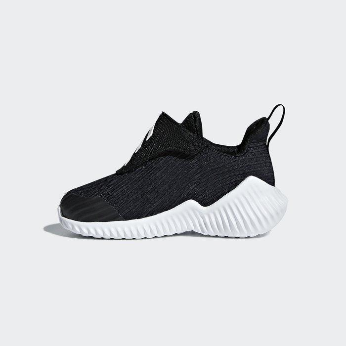 奇星 Adidas FortaRun AC 愛迪達 小童鞋 黑色 魔鬼氈 休閒 舒適 運動 慢跑鞋 #AH2637