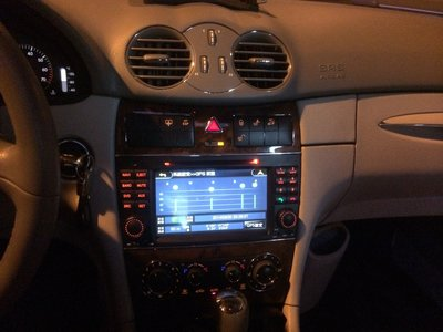 弘群CONQUER 征服者 Benz w209 CLK 專車專用機完美整合原車can 信息全套5合1多功處理完美型一拜
