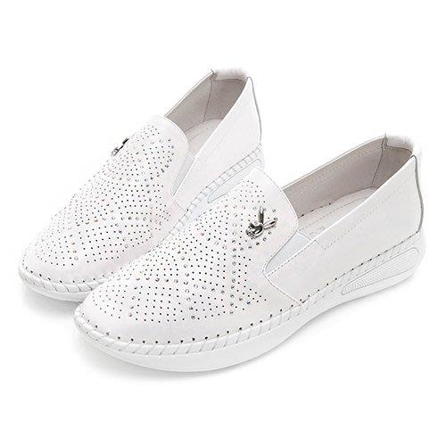 【曼曼鞋坊】 PLAYBOY 女鞋 PLAY BOY  浪漫星空 美鑽 真皮 休閒鞋 白 小白鞋 Y5298