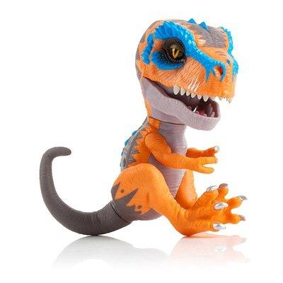 小晴天-正版進口Untamed指尖恐龍霸王龍電動發聲互動手指寵物男孩玩具