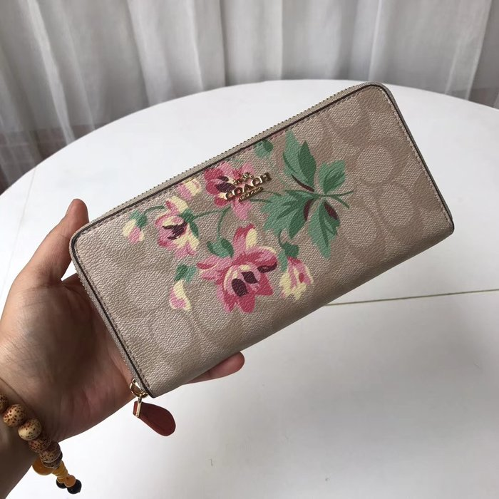 【小怡代購】 全新COACH 73345 美國正品代購新款女士花朵錢包 長夾 手拿包 皮夾女款錢夾 超低直購