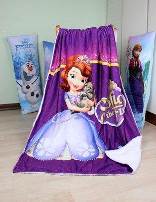 【現貨】Sofia  小公主蘇菲亞  薄款  毯子 毛毯 空調毯  100x140cm