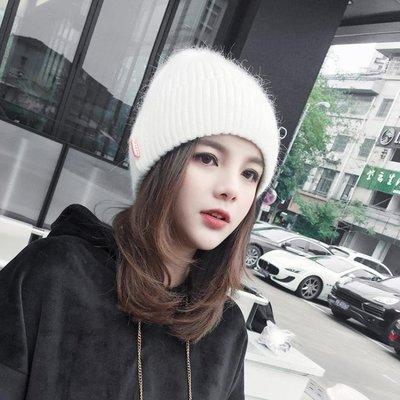 月子帽 帽子秋冬天女韓國潮吖百搭休閒韓版冬季英倫時尚保暖毛線帽月子帽
