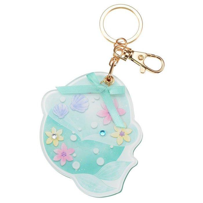 日本迪士尼專賣店商品 小美人魚愛麗兒吊飾隨身鏡
