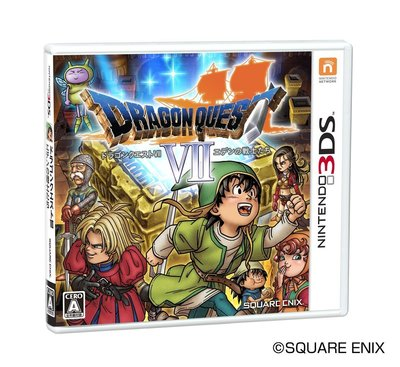 3DS 勇者鬥惡龍 7 伊甸的戰士們 初回版 純日版 (3DS台灣中文機不能玩) 二手品