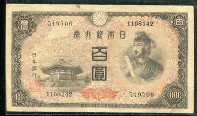 【日本銀行券~百圓紙鈔 】