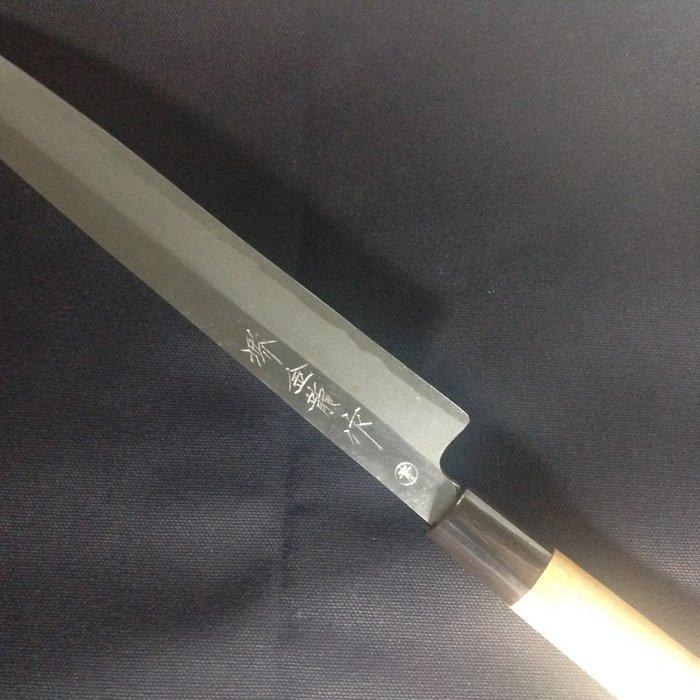 日製 堺市名刀 金龍 作( 青紙)(極度稀少品)(漲價)料理刀 全長約37.2公分 A-1