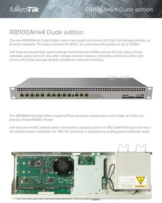 【RouterOS專業賣家】RB1100AHx4 RB1100Dx4 Dude Edition 防火牆/路由器-含運未稅