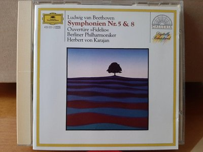 Karajan,Beliner Phi,Beethoven-Sym No.5 & 8,卡拉揚指揮柏林愛樂,演繹貝多芬-第5 & 8號交響曲