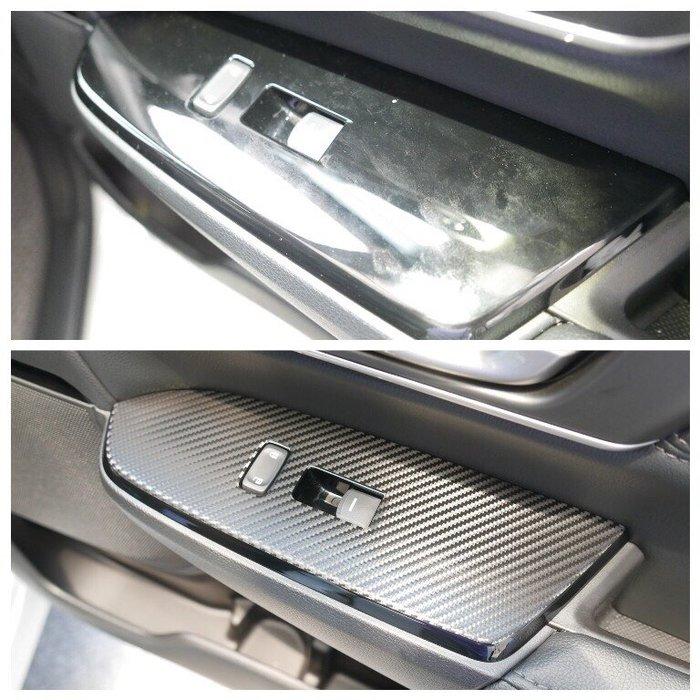 HONDA本田5代5.5代【CRV5電動窗飾板貼膜】CRV五代 3M保護貼紙 窗戶開關卡夢貼 按鍵飾板保護貼 內車門改裝