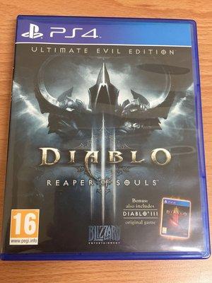 PS4 暗黑破壞神3 暗黑破壞神 3 奪魂之鐮 終極邪惡版 英文版 二手 可取貨付款