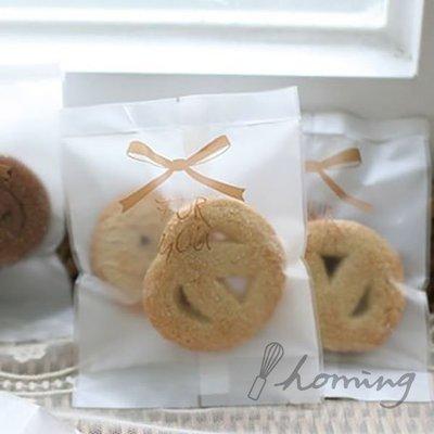 【homing】(10.5 X 13.5cm)FOR YOU霧面蝴蝶結烘焙點心西點包裝袋/餅乾袋/機封袋/月餅袋-大尺寸