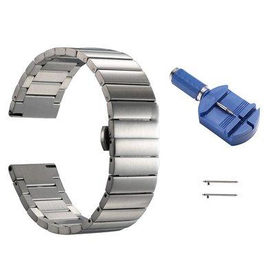 丁丁 佳明 Garmin CHRONOS 經典商務酷龍克羅斯不鏽鋼錶帶 22mm 優質精鋼 精心設計 佩戴舒適 替換腕帶