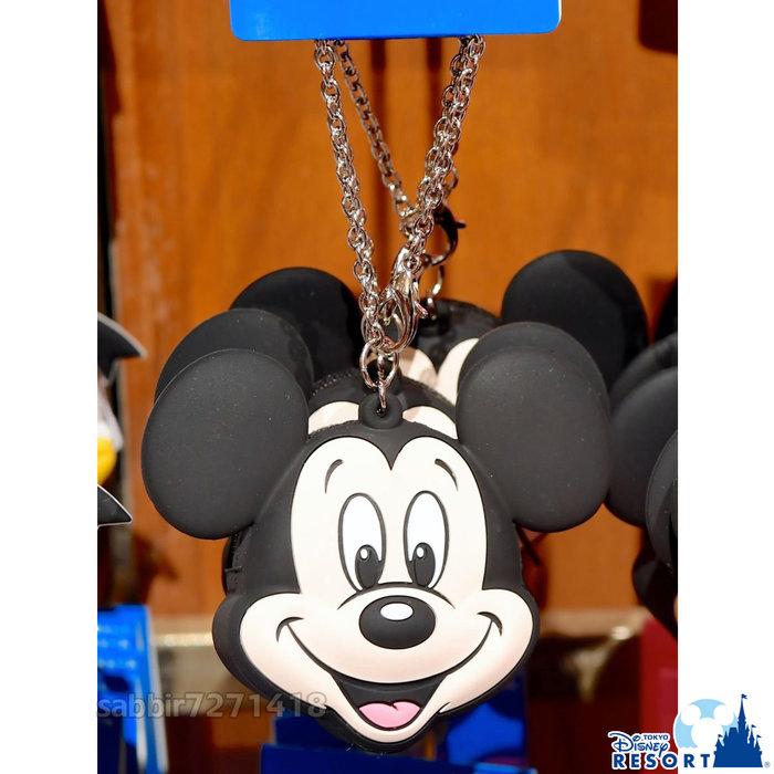 JP購✿樂園限定頭型矽膠零錢包 米奇 日本東京迪士尼樂園 拉鍊 零錢包 吊飾 掛飾 鑰匙圈 401350097847