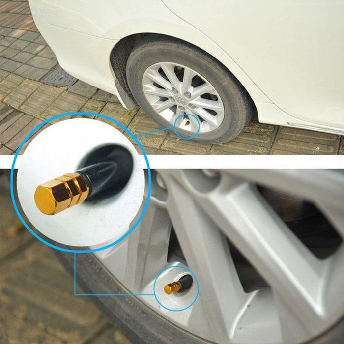 汽車輪胎帽汽門嘴蓋 鋁制汽門嘴 汽車用品 鋁合金輪胎嘴蓋 氣門嘴輪毅4個裝