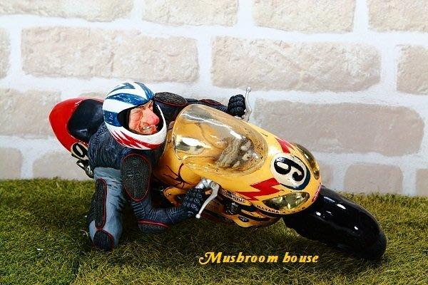 點點蘑菇屋 歐洲進口 精緻法國社會寫實派設計師FORCHINO系列擺飾-機車賽車手 摩托車賽車手 重型機車 職業賽車手