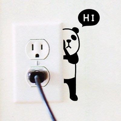 Ξ ATTIC Ξ 韓國Adorn House~ ANi Hide 躲貓貓 創意家飾/家具貼/開關貼/窗貼/壁貼~ 貓熊
